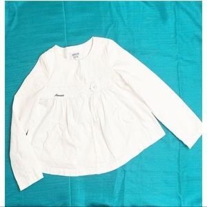 ARMANI TEEN GIRL WHITE COLDUROY JACKET 11A